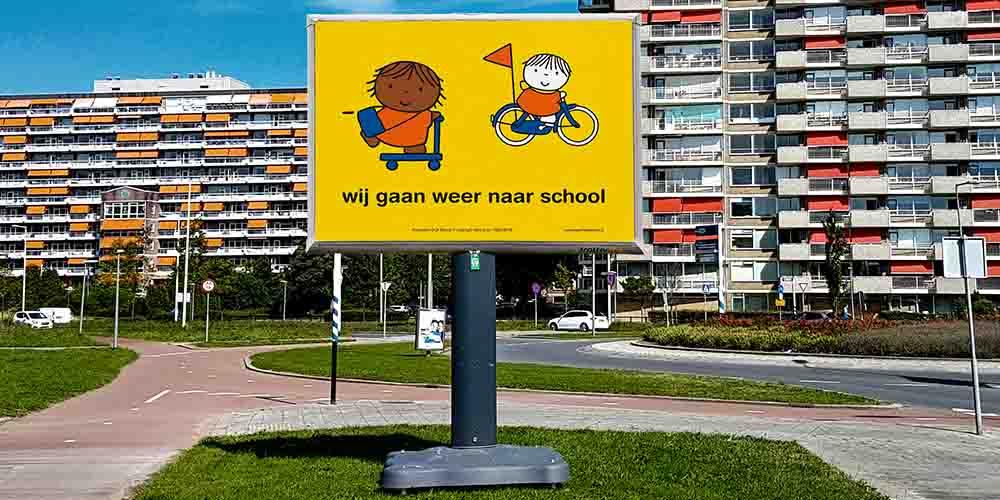 Trotter billboard - verkeersveiligheid - gemeente - image building