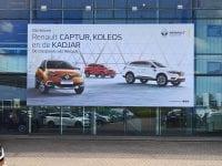 Automotive crossovers - gevelreclame - aluminium buizenframe - Image Building
