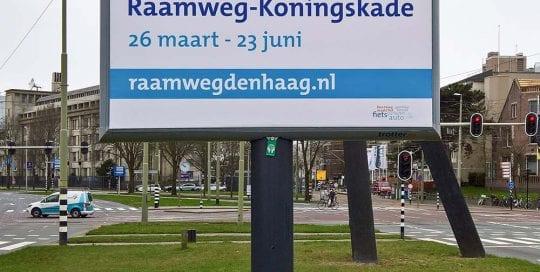 Verkeershinder Raamweg-Koningskade Den Haag