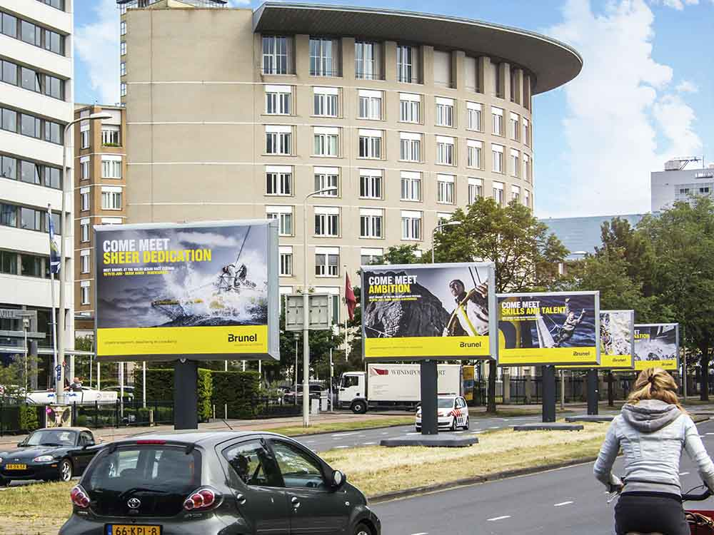 Trotter reclamebord billboard event communicatie evenementen
