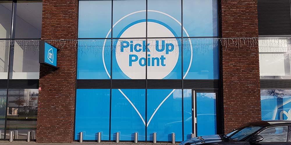 Gevelreclame - Albert Heijn - Pick Up Point - Raamfolie - Image Building
