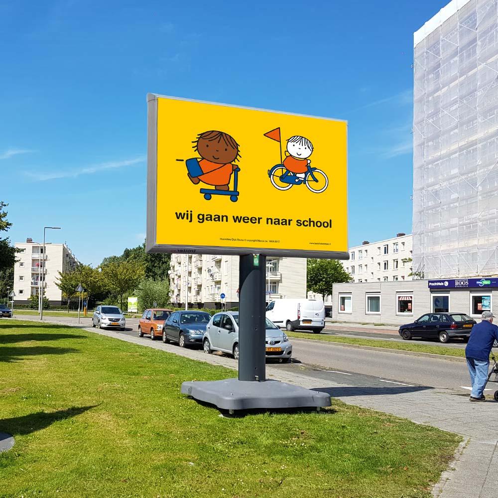 Campagne wij gaan weer naar school Rotterdam