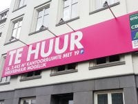 blindframe reclamebord hangend enkel Image Building Den Haag