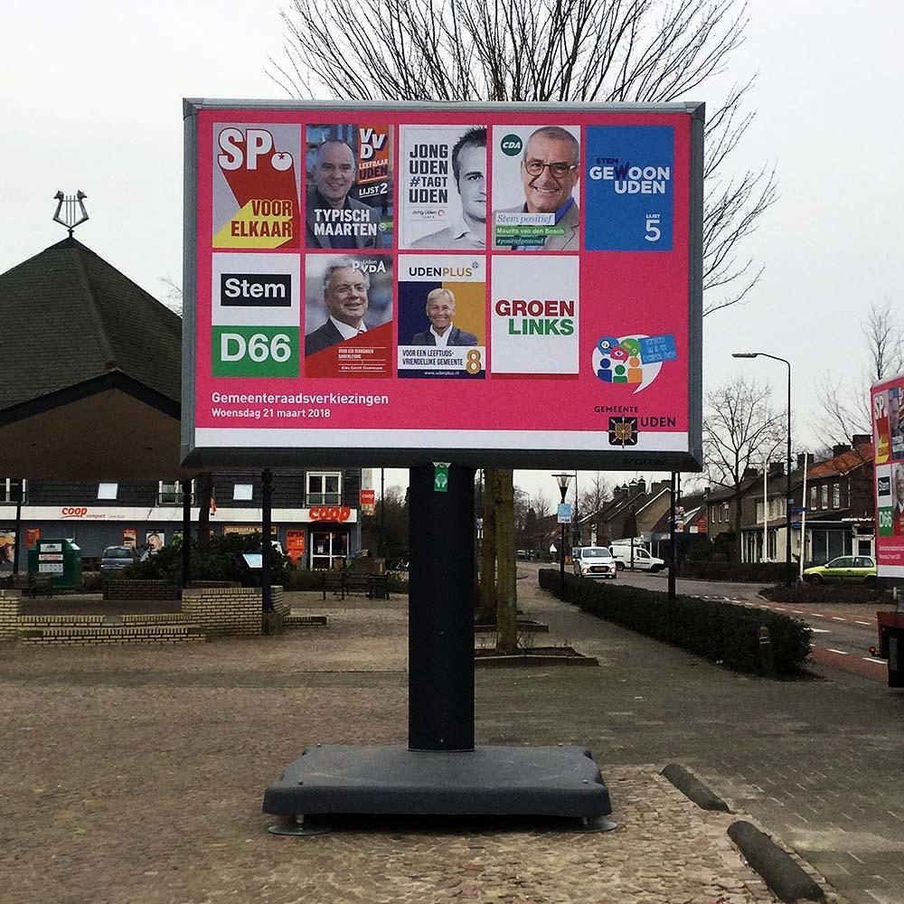 Verkiezingsborden voor gemeentes