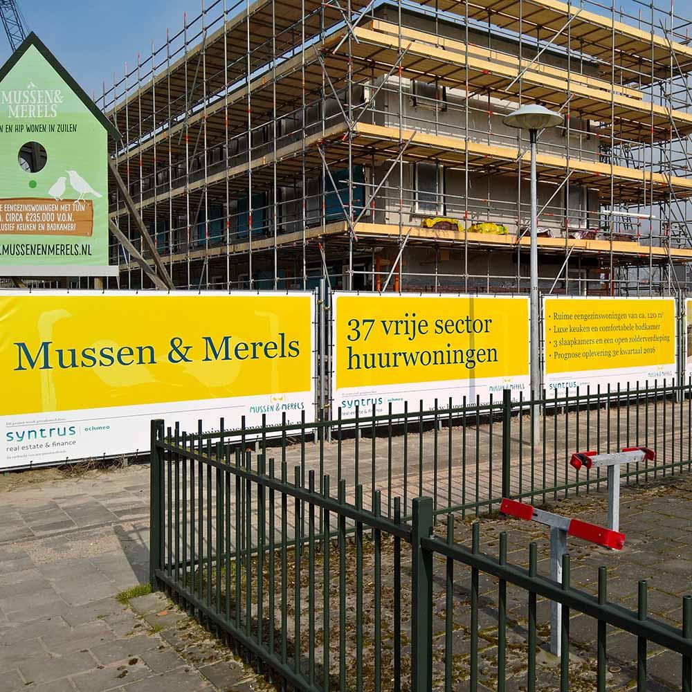 Bouwhekdoeken Mussen & Merels - Image Building