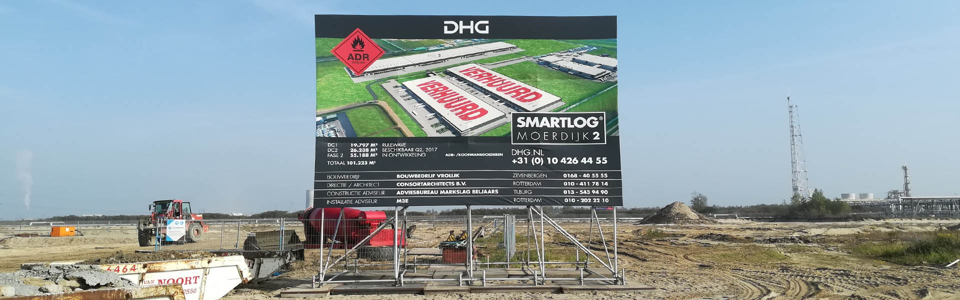 DHG bouwbord Image Building