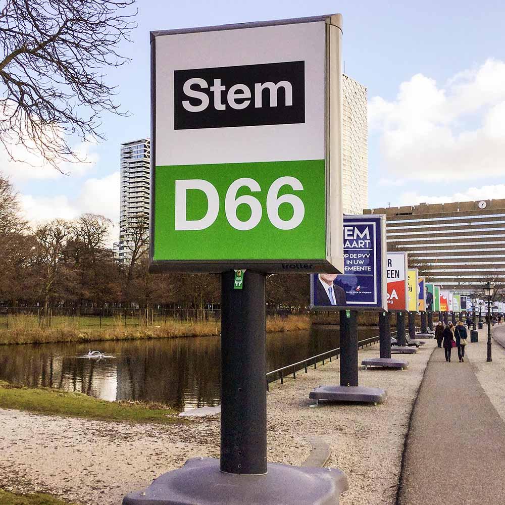 verkiezingsborden Den Haag verkiezingen in Nederland verkiezingsbord inspiratie de nieuwe generatie Trotters