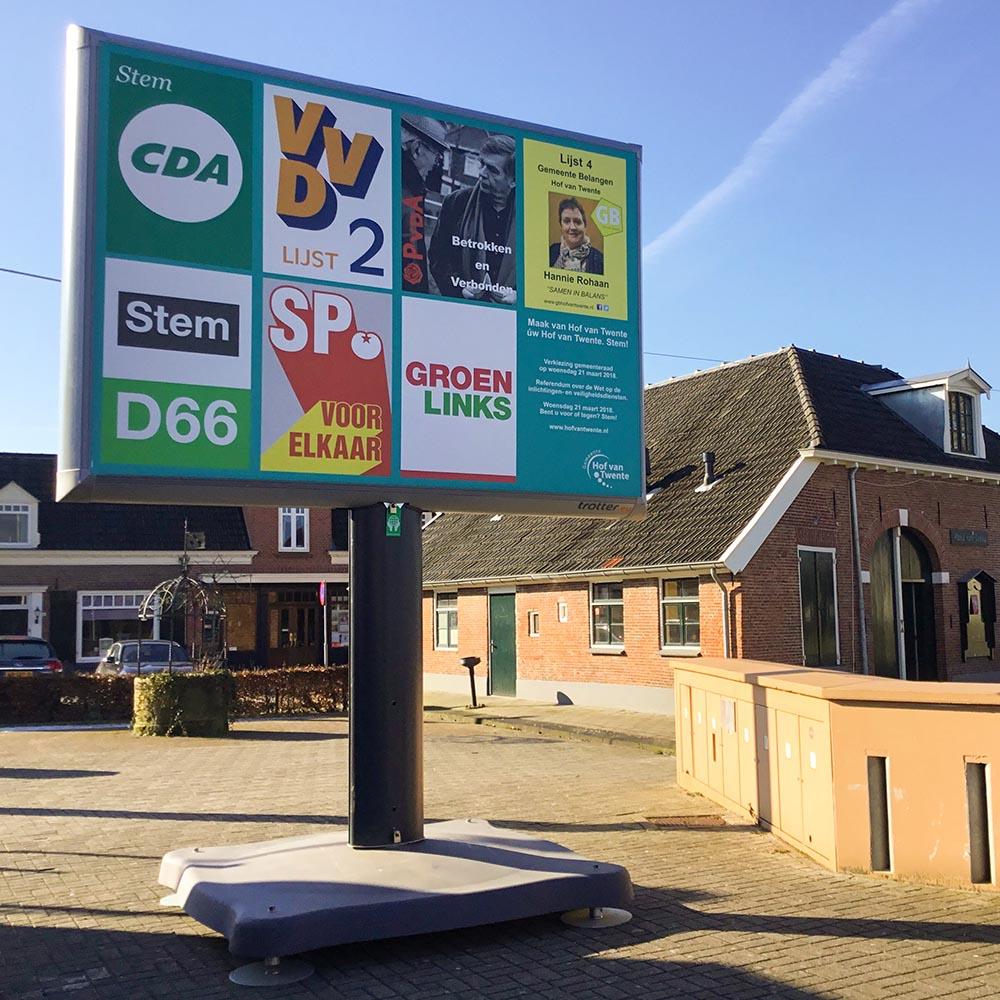 verkiezingsborden verkiezingsbord trotter billboard verkiezingen