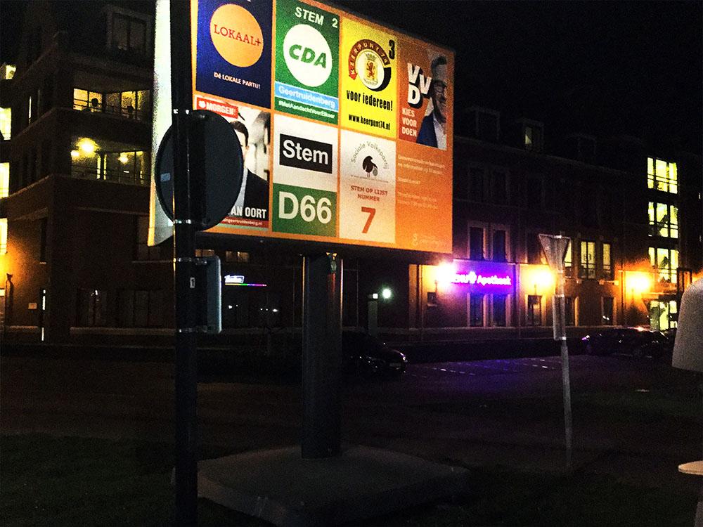 trotter verkiezingsbord verkiezingen in Nederland