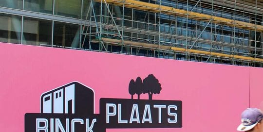 Bouwschutting - Binck Zuid - Image Building