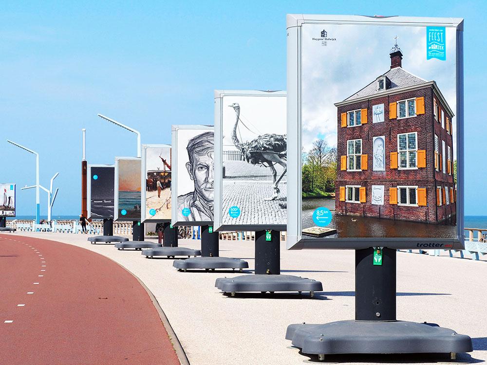 Buitententoonstelling - Feest aan Zee - Trotter - Image Building