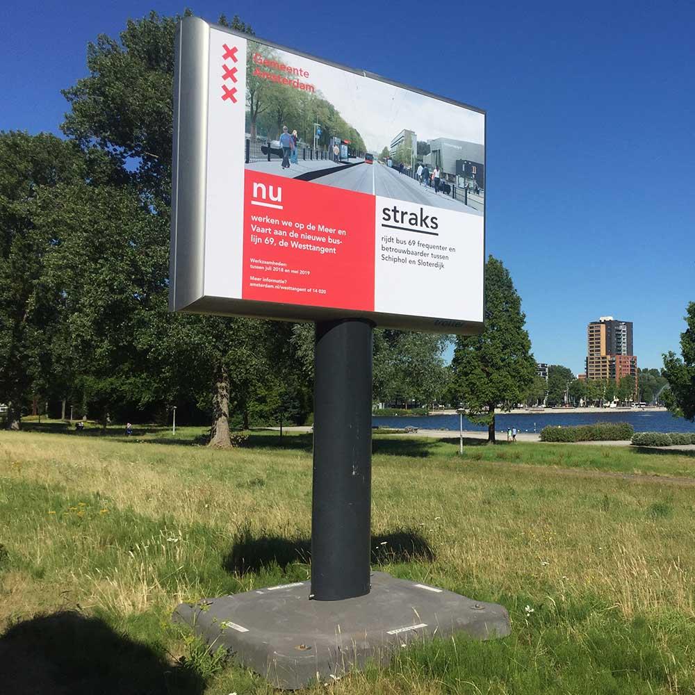 aankondiging nieuwe busverbinding Amsterdam Westtangent