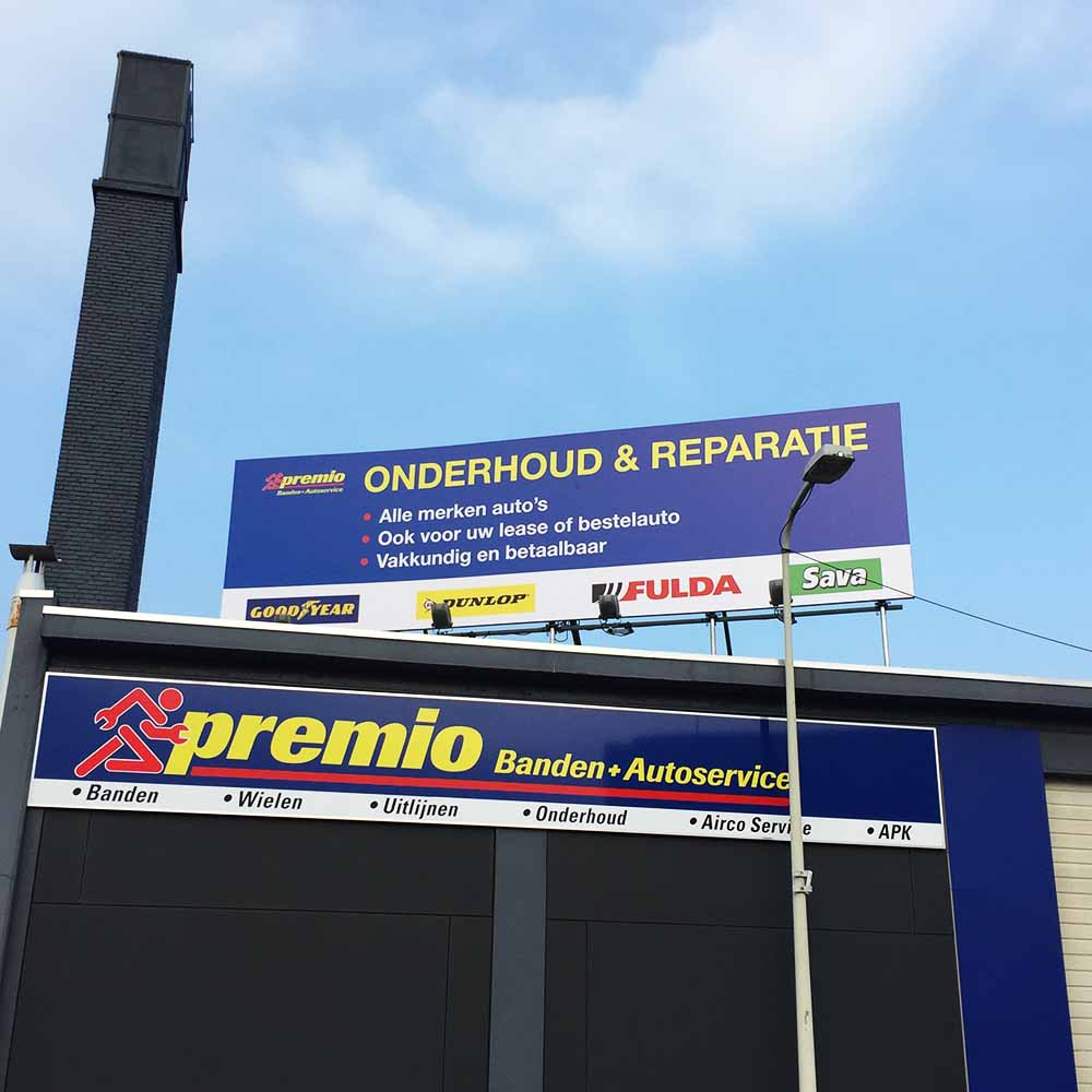 Automotive signing - dakbord - Premio - Image Building