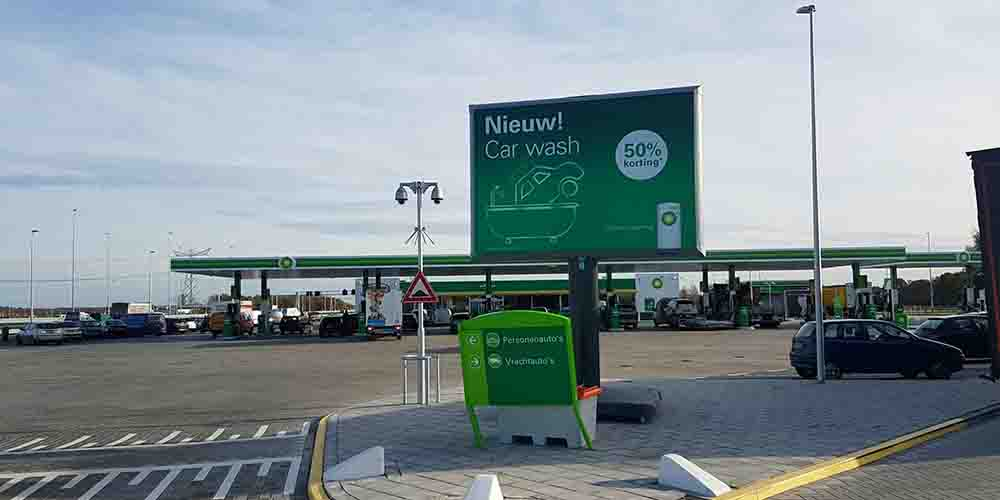tankstation vakbeurs trotter reclame