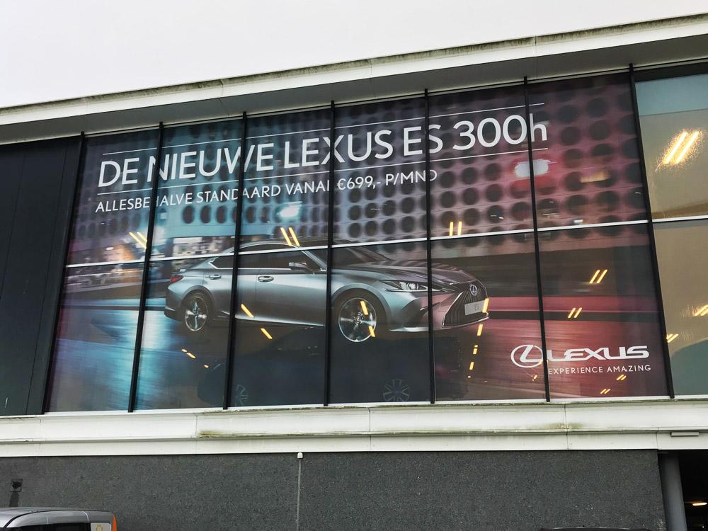 Lexus_raamfolie_Den Haag_dealer campagne
