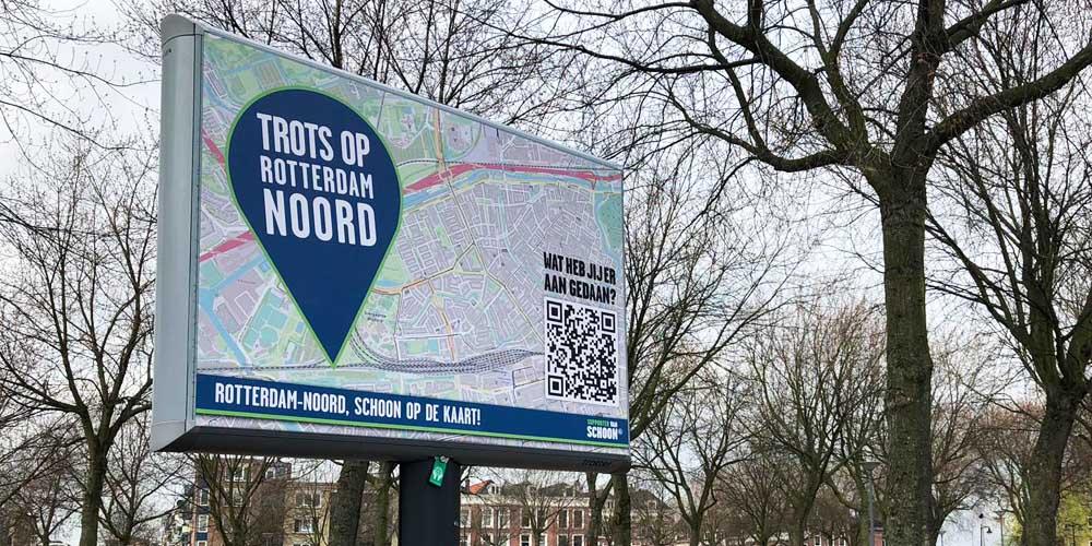 buitenreclame combineerd offline en online reclame rotterdam 1000x500