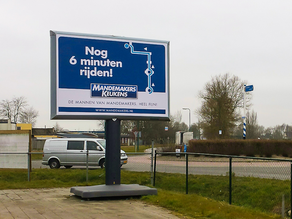 retailcommunicatie retail signing bewegwijzering trotter billboard detailhandel