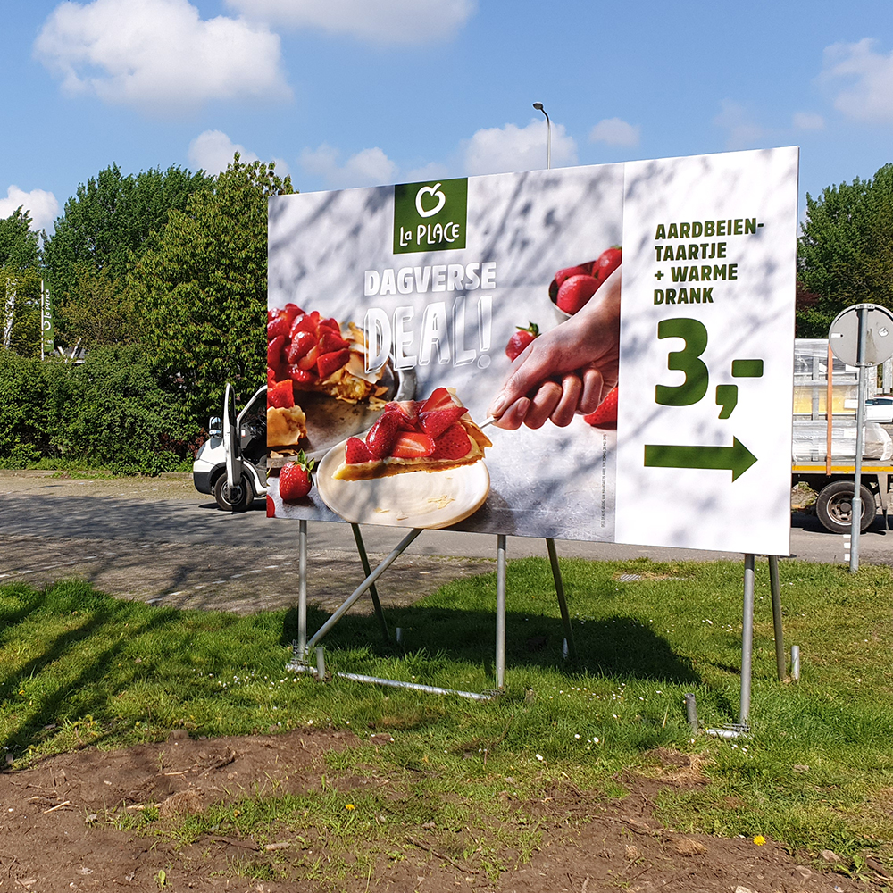 actiemarketing campagne la place blindframe staand 1000x1000