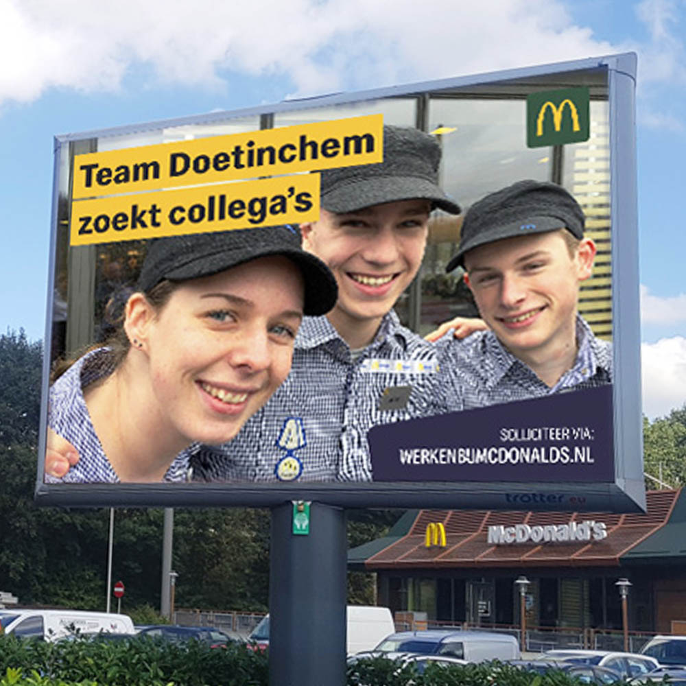 Wervingscampagne Mcdonalds 1000x1000