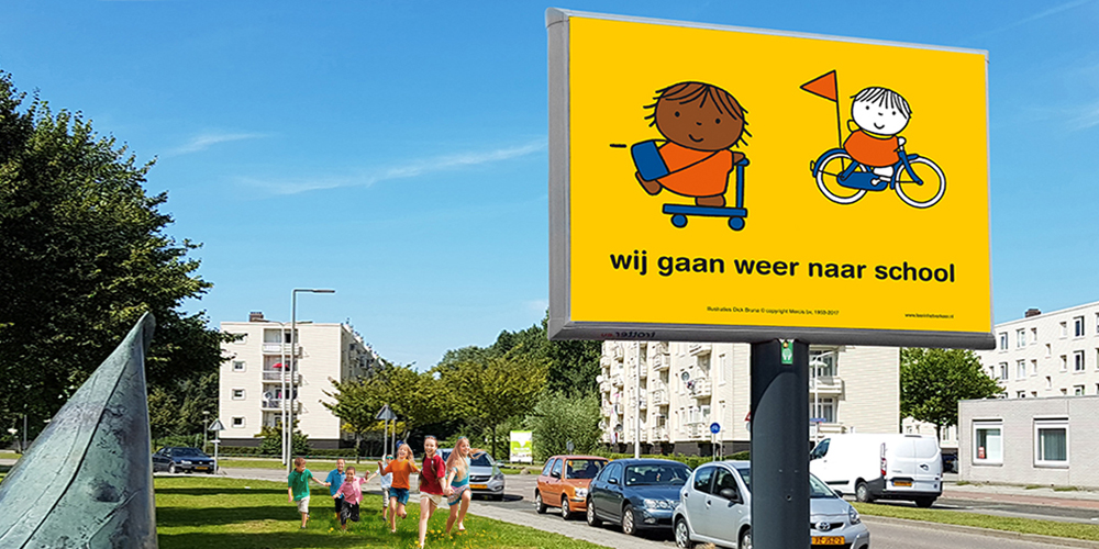 buitenreclame wij gaan weer naar school trotter billboard