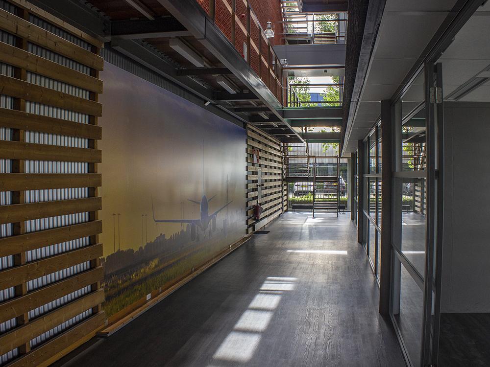textielframe blindframe TDA amsterdam schiphol image building