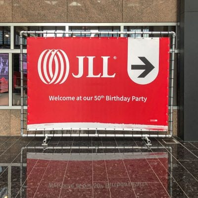 event aankleding jll display