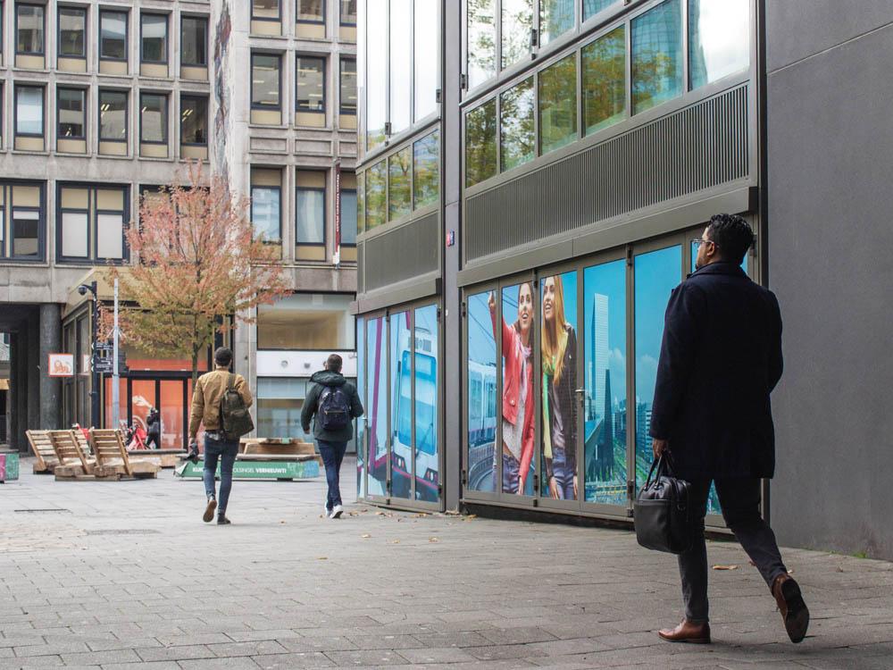 Citymarketing rotterdam raamfolie stickers raamstickers buitenreclame 1000x750