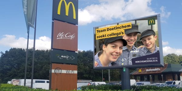 arbeidsmarktcommunicatie McDonalds Doetinchem zoekt collega's 1000x500