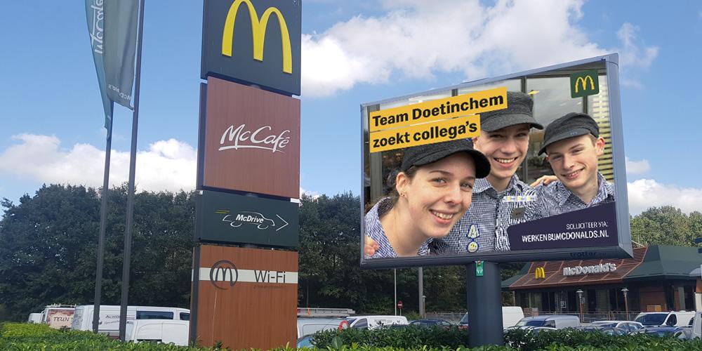arbeidsmarktcommunicatie McDonalds Doetinchem zoekt collega's