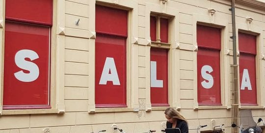 Winkelpand maskering salsa shop groningen 1000x1000