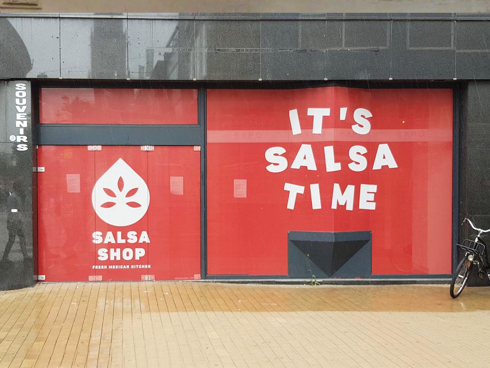 Winkelpand maskering salsa shop groningen 1000x750