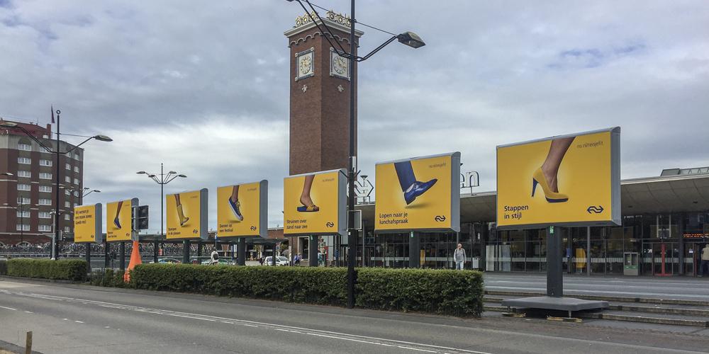 billboard reclamebord buiten trotter nijmegen vierdaagse image building