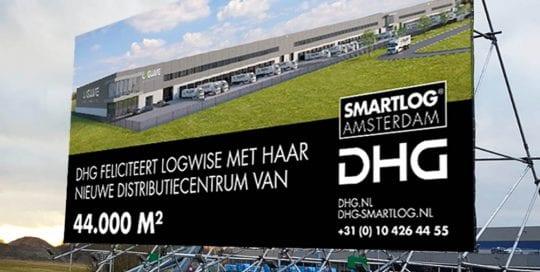 bouwframe bouwbord blindframe staand DHG smartlog amsterdam 1000x750