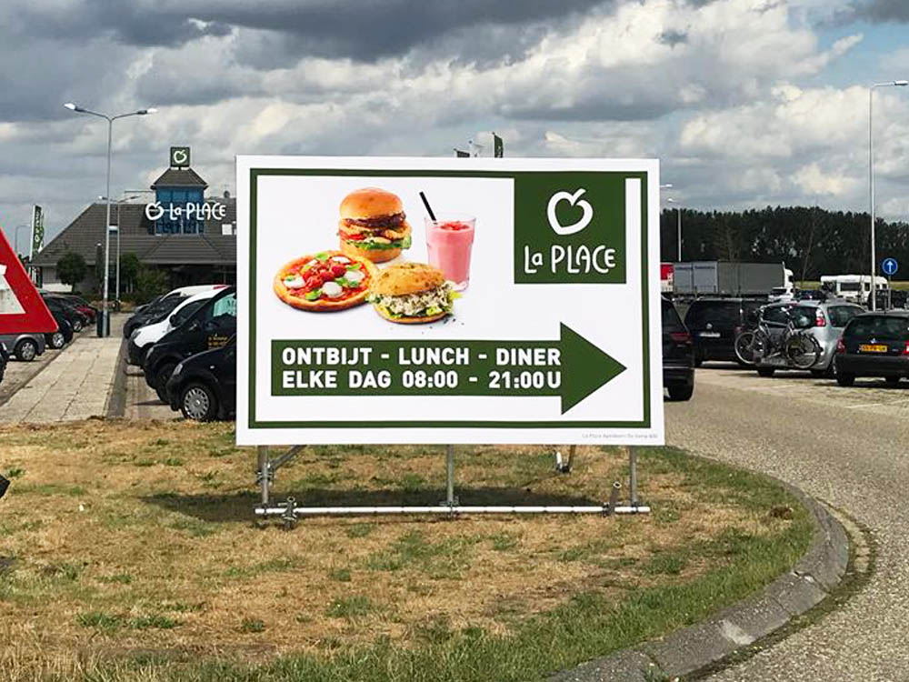 openingstijden communicatie blindframe billboard retailmarketing foodmarketing
