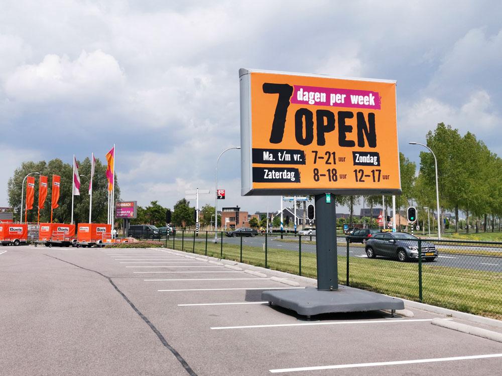 openingstijden communicatie trotter billboard trotterborden