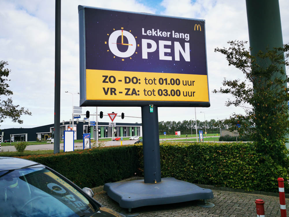 foodmarketing openingstijden communicatie trotter billboard trotterborden