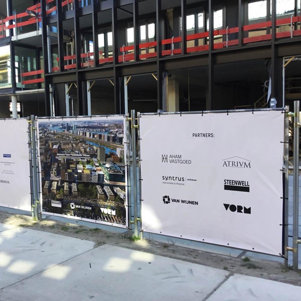reclamedoeken bouwplaats Bouwhekdoeken eiland oostenburg image building 1000x750