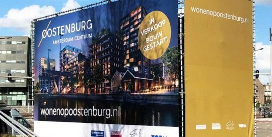 aluminium vastgoedbord kubus vorm vastgoed buizenframe oostenburg1000x750
