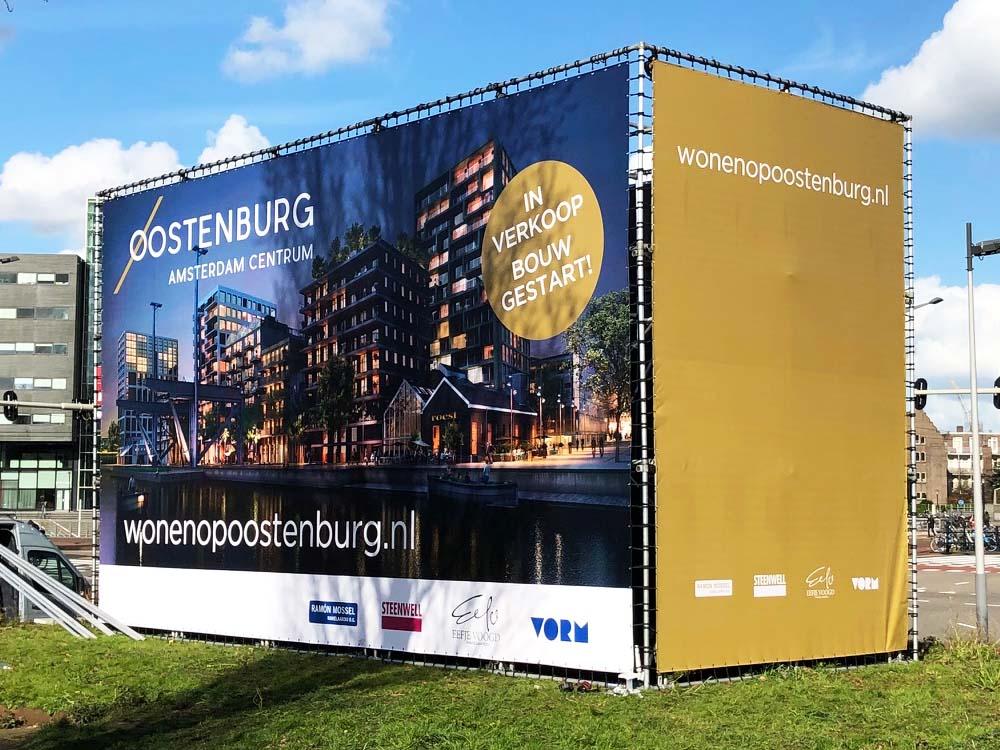 oostenburg aluminium vastgoedbord kubus vorm vastgoed buizenframe