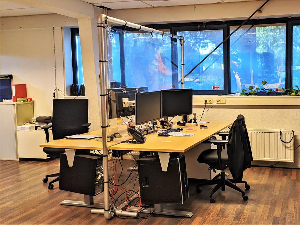 Transparante schermen spatscherm transparante schermen kantoor spatscherm anti-coronascherm Image Building
