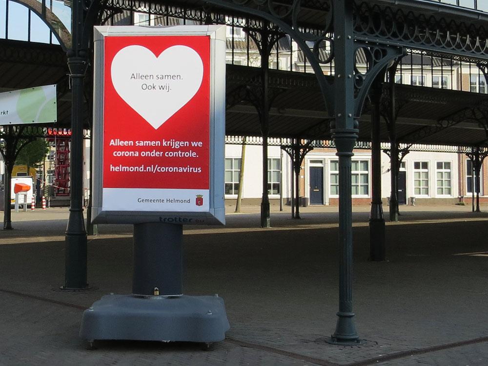 corona preventie gemeente helmond trotter billboard maatregelen markthal brandevoort