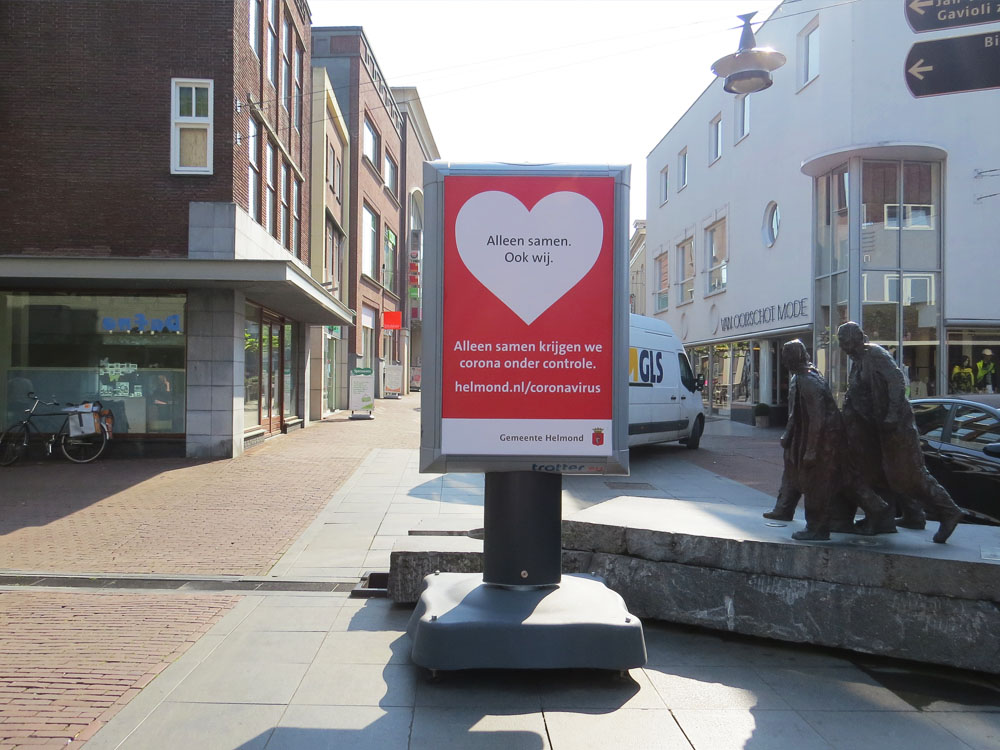corona preventie gemeente helmond trotter billboard maatregelen Helmond Centrum