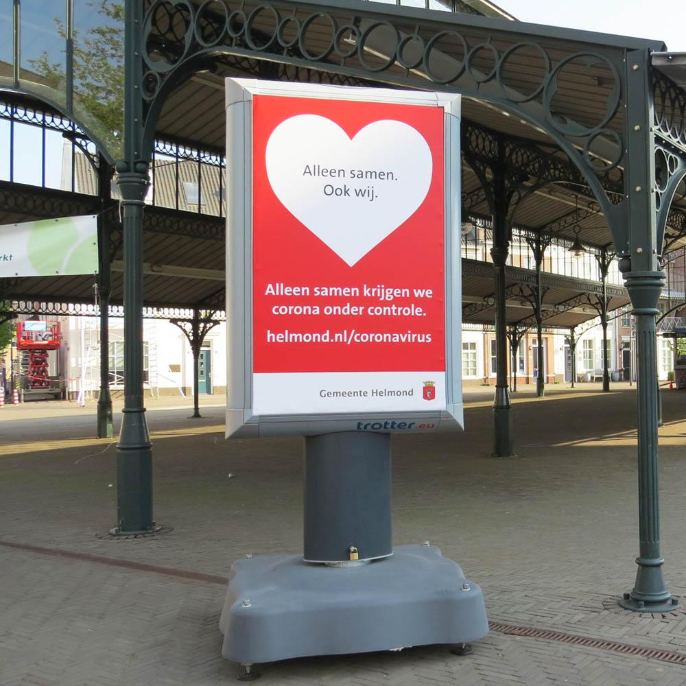 crisiscommunicatie coronabord communicatiedrager trotter billboard trotterbord helmond image building