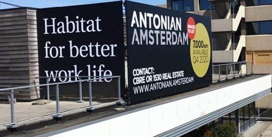 Geveldoeken als verhuurborden antonian amsterdam image building 1000x1000