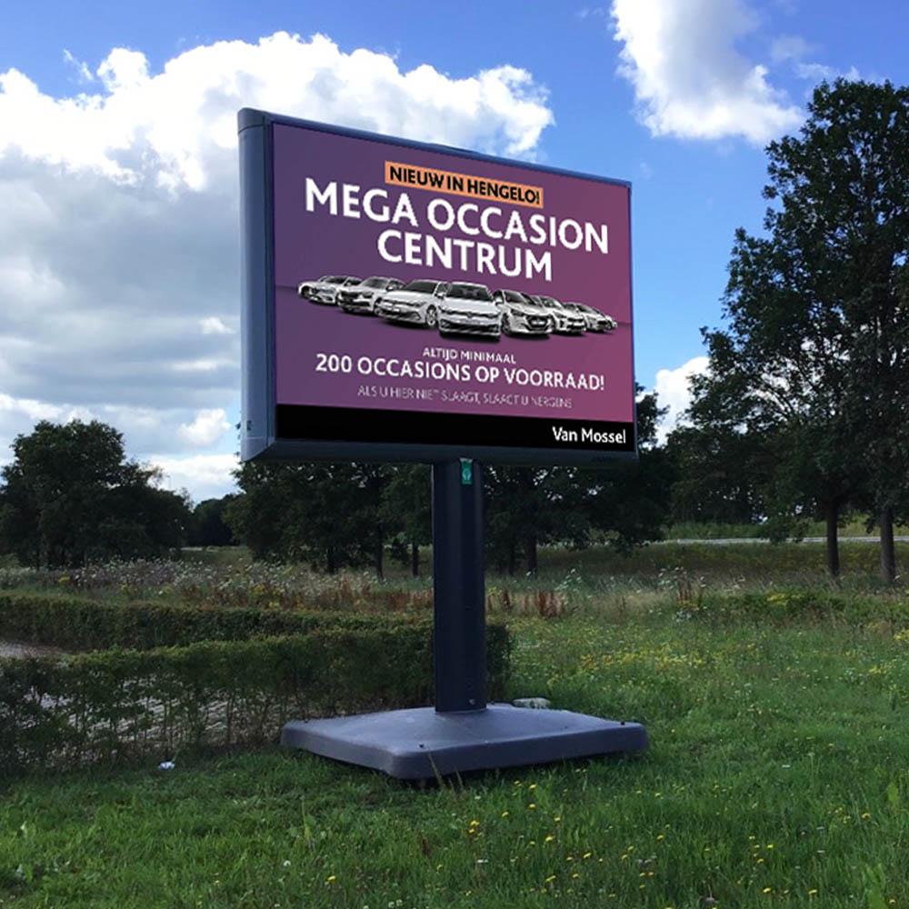 Occasion Mega Center van Mossel Hengelo Trotter Trotterbord Billboard 1000x1000