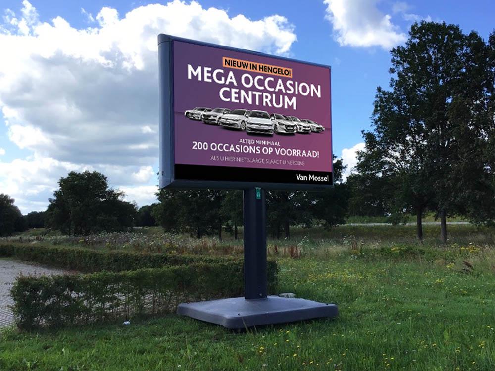 Occasion Mega Center van Mossel Hengelo Trotter Trotterbord Billboard