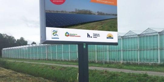 bouwbord zonnepark reclamebord zonneweide trotter zaltbommel 1000x1000