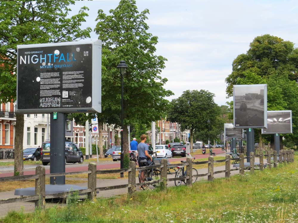openbare fototentoonstelling Nightfall Museum Arnhem Trotterbord expositie