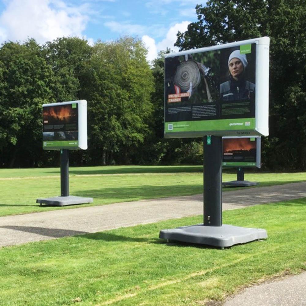 reizende fototentoonstelling bosbranden wereldwijd greenpeace amsterdamse bos trotter billboard 1000x1000