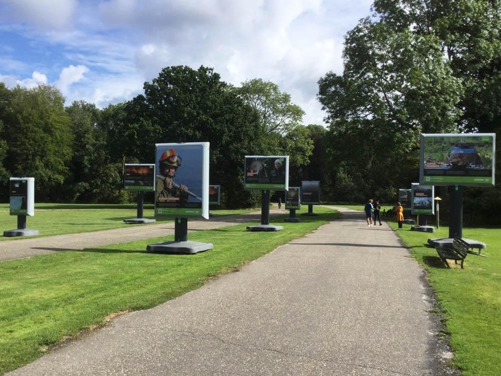 reizende fototentoonstelling bosbranden wereldwijd greenpeace amsterdamse bos trotter billboard